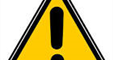 yellow triangle alert symbol