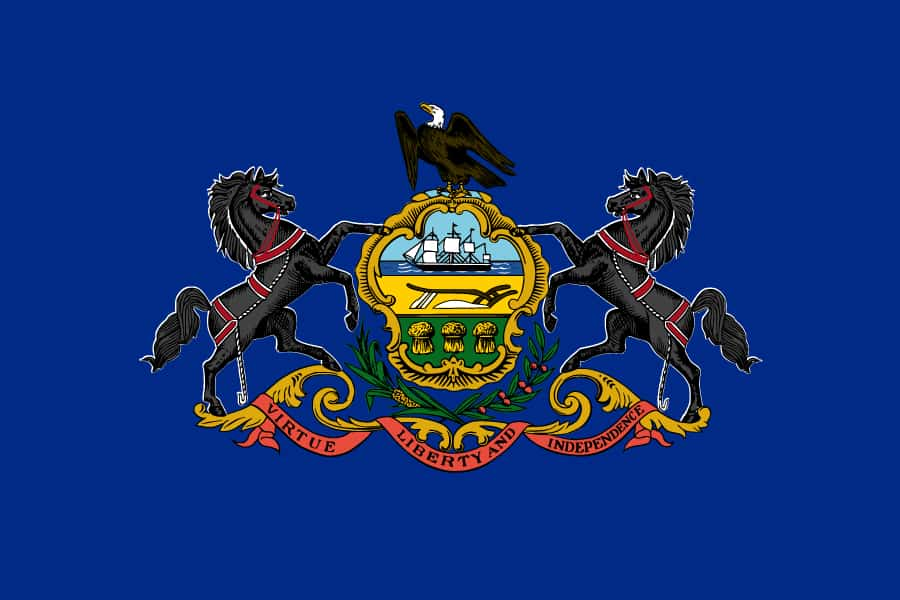 State symbol on the Flag of PA