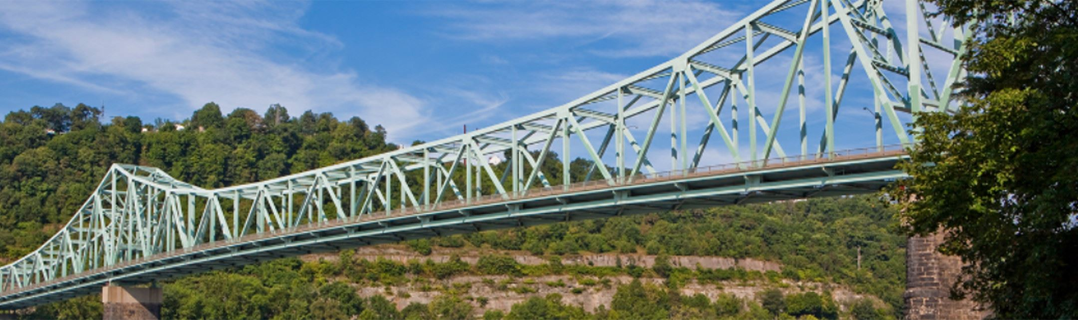 Sewickley Bridge in the summer